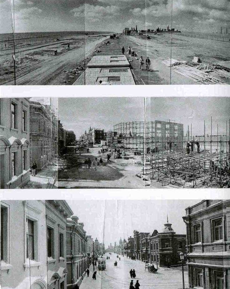 Construction d'une rue de Moscou dans le quartier de Canillas (Madrid)
