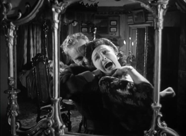 Peter et Joan Cortland dans l'épisode du Miroir hanté